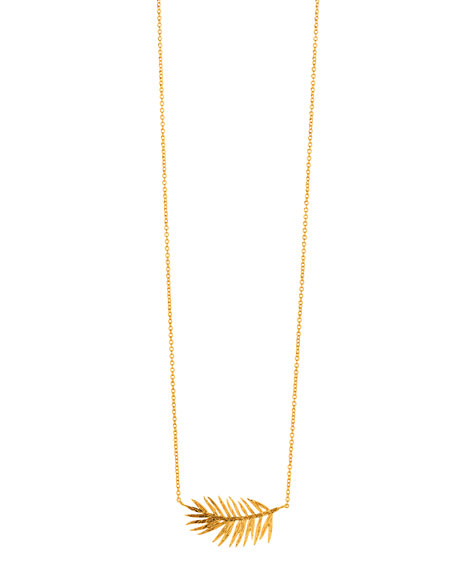 Integrated Palm Pendant Necklace