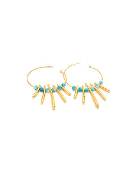 Makena Profile Hoop Earrings