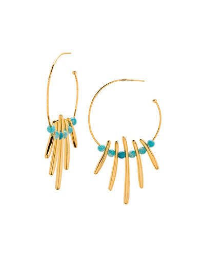 Makena Profile Hoop Earrings
