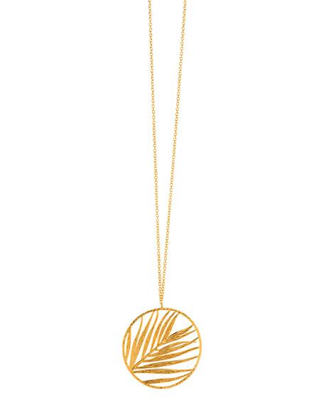 Adjustable Palm Pendant Necklace