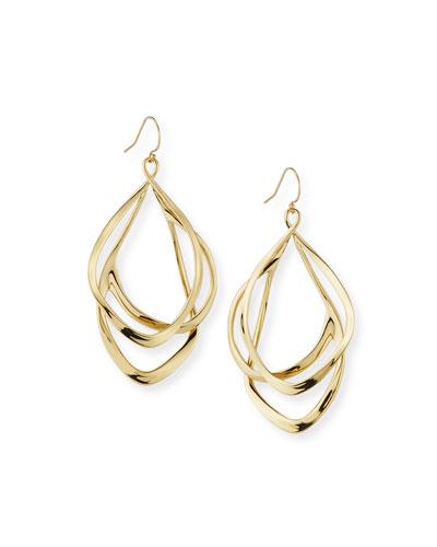 Orbit Wire Drop Earrings, Golden