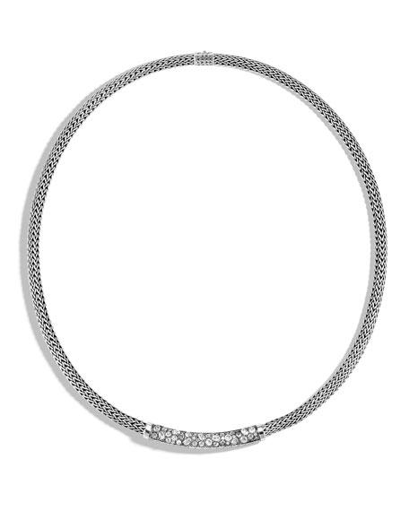 John Hardy Classic Chain Diamond Pave 5mm Necklace