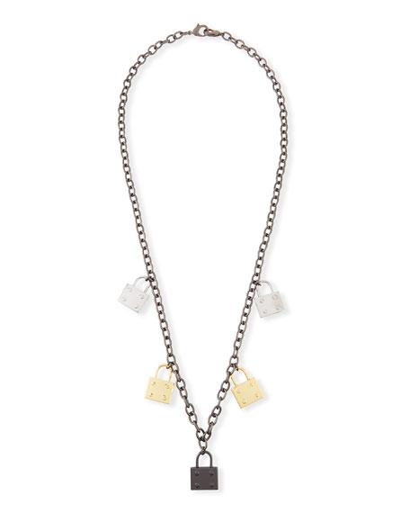 HIPCHIK Elle Multi-Lock Pendant Necklace