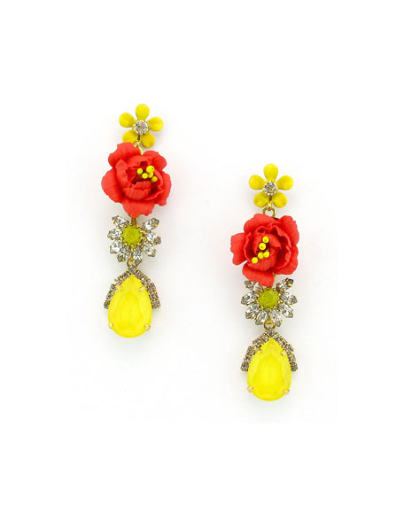 Elizabeth Cole Myers Dangle Earrings