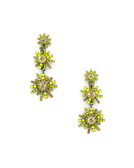ELIZABETH COLE SUNRISE CRYSTAL DROP EARRINGS