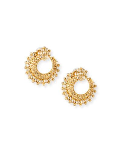 Crystal Curved Earrings