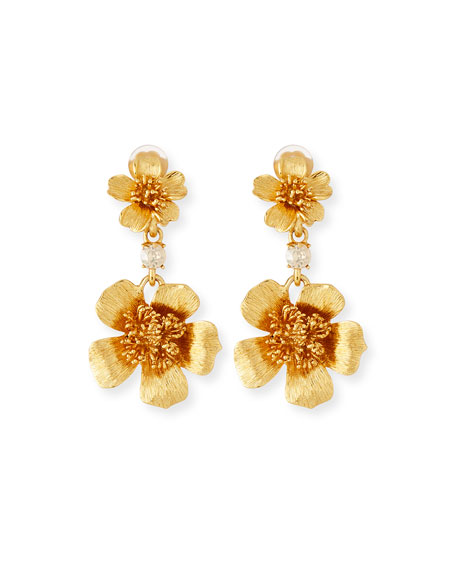 Oscar de la Renta Delicate Flower Clip-On Drop