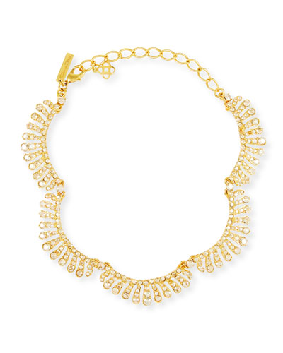Curved Crystal Choker Necklace