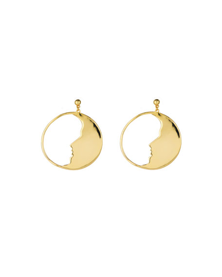 Oscar de la Renta Large Moon Hoop Earrings