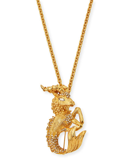 Oscar de la Renta Crystal Ram Brooch