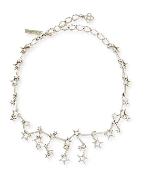 Oscar de la Renta Crystal Constellation Choker Necklace