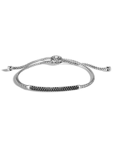 John Hardy Classic Chain Pull-Through Bracelet w/ Black