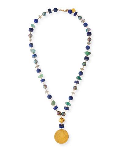 Multi-Coin Pendant Necklace, 30