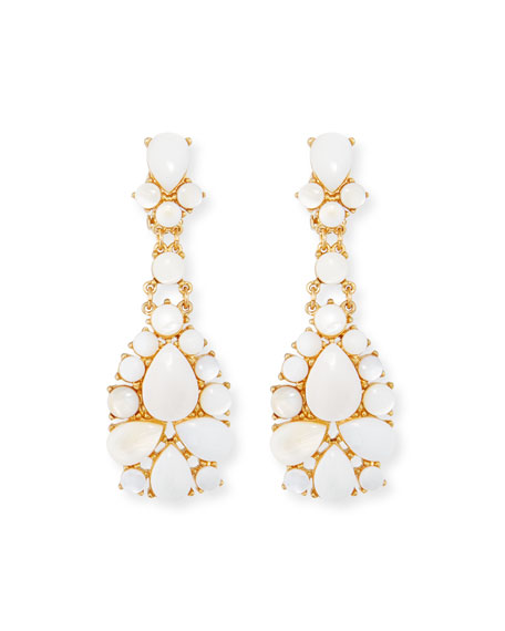 SEQUIN MOTHER-OF-PEARL STATEMENT EARRINGS