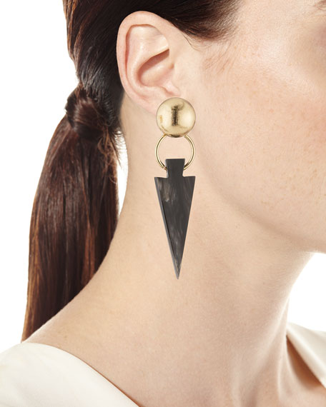 Black Horn Arrow Earrings