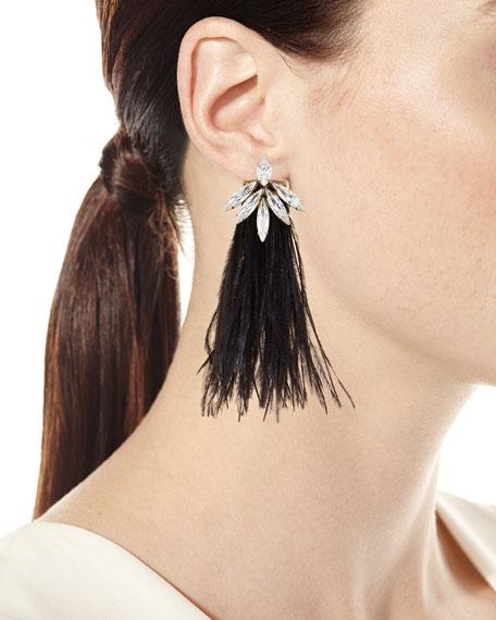 Avery Feather Drop Earrings