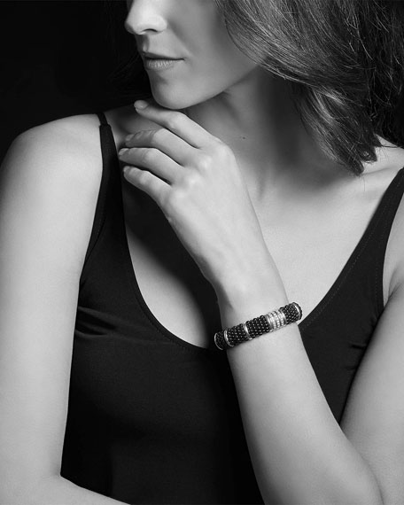 LAGOS Black Caviar Diamond Link Bracelet, 15mm