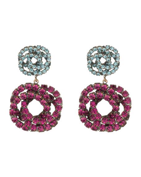 920823c7d7cbb Chrysanthe Berry Crystal Drop Earrings in Fuchsia