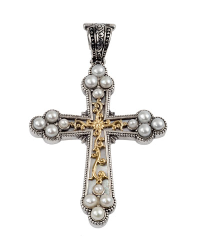 Thalia Gold/Silver Mother-of-Pearl Cross Pendant