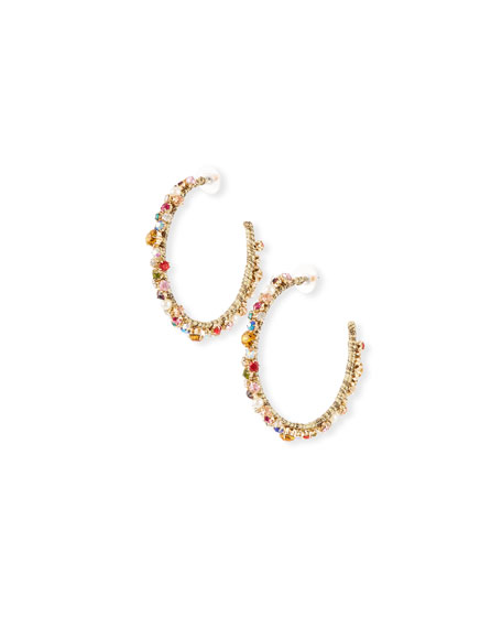 BaubleBar Avie Crystal Hoop Earrings