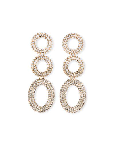 Mini Triple Hoop Drop Earrings