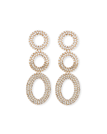 BaubleBar Mini Triple Hoop Drop Earrings
