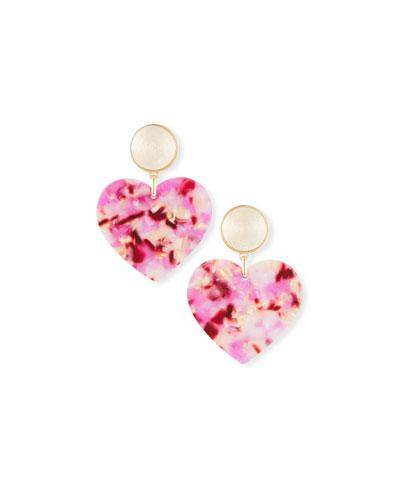 Gigi Heart Drop Earrings