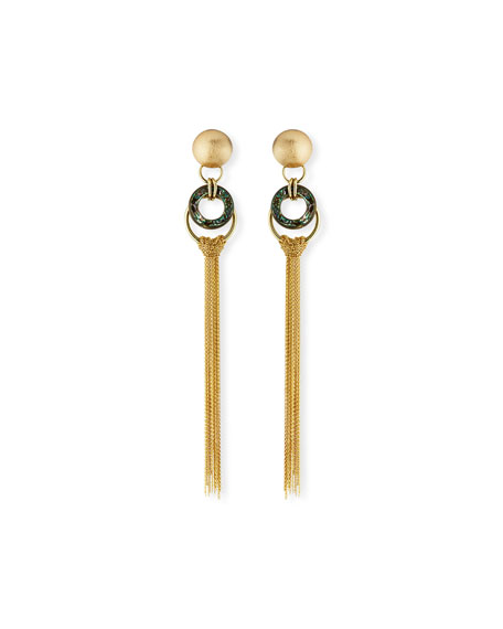 Akola Long Chain Tassel Earrings