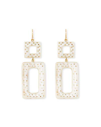 Rectangular Drop Earrings, Light