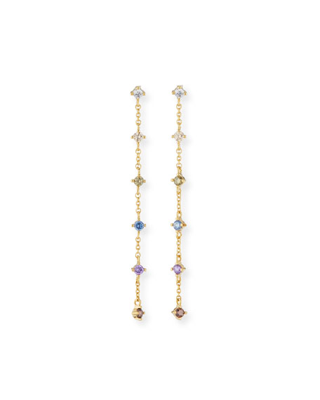 TAI Rainbow Drop Earrings in Gold
