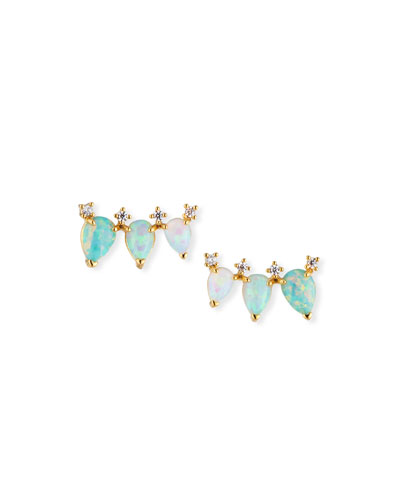 Opal Trio Earrings