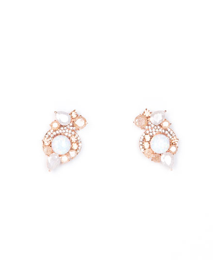Mignonne Gavigan Gaby Metallic Earrings, Rose