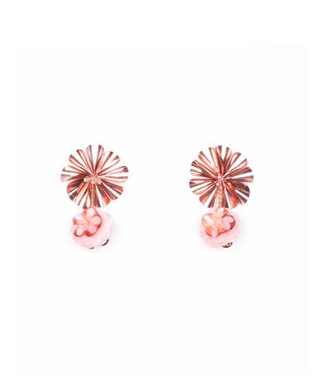 Mignonne Gavigan Karolina Petite Earrings, Pink