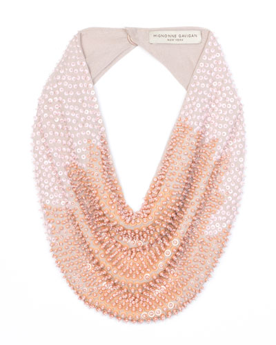 Tanya Scarf Necklace w/ Sequins