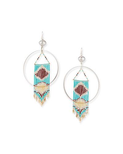 Round Southwestern Bead Dangle Earrings