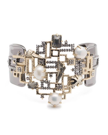 Alexis Bittar Brutalist Studded Pearly Bracelet