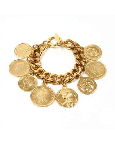 Chain-Link Coin Drop Bracelet