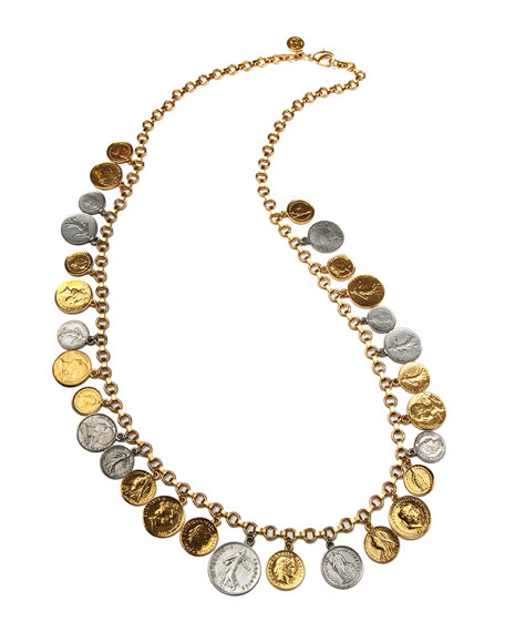 Long Multi-Coin Necklace