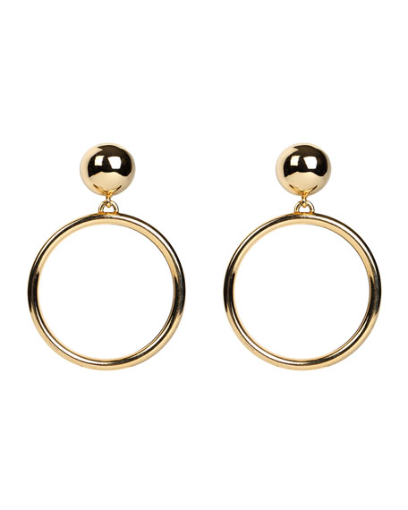 Hoop Drop Clip-On Earrings