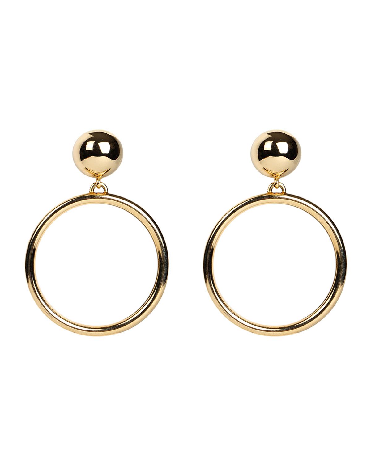 Ben-Amun Hoop Drop Clip-On Earrings | Neiman Marcus