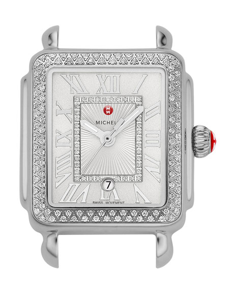 Deco Madison Mid Diamond Watch Head, White