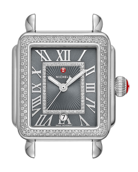 Deco Madison Diamond Watch Head, Gray
