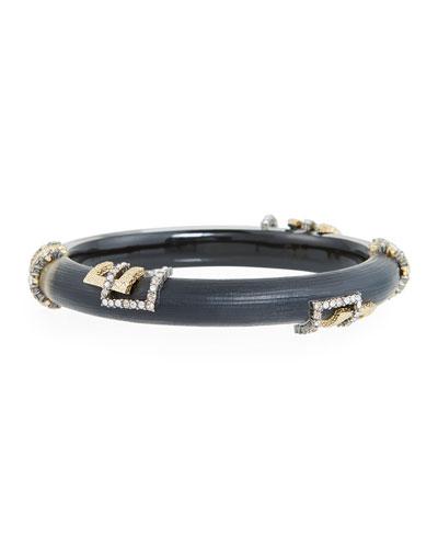 Brutalist Studded Skinny Hinge Bracelet