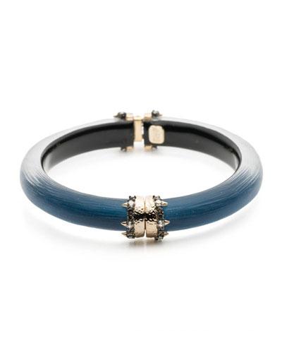 Capped Hinge Bracelet, Blue