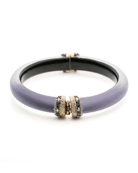 Capped Hinge Bracelet, Purple