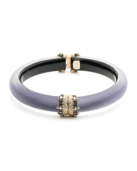 Alexis Bittar Capped Hinge Bracelet, Purple