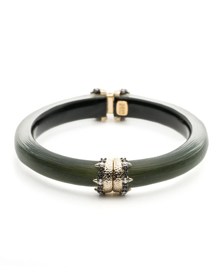 Alexis Bittar Capped Hinge Bracelet, Sage