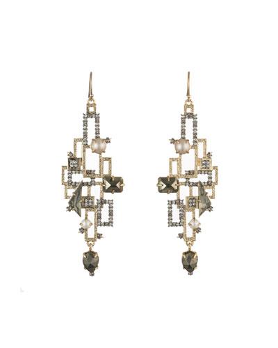 Brutalist Stone Wire Earrings