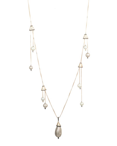 Multi-Pearl Drop Necklace