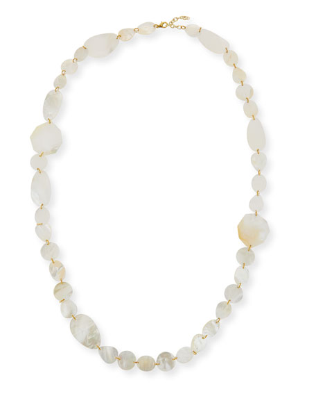 VIKTORIA HAYMAN Single-Strand Mother-Of-Pearl Necklace in White